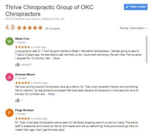 Google Reviews Thrive Chiro Preview